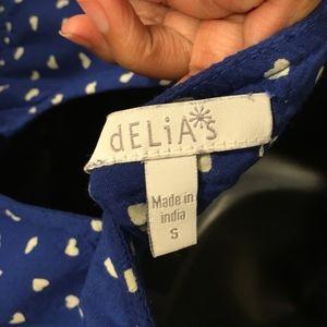 5cbfbfacba55 dELiA s Pants - Delias Blue and White Romper with Pockets